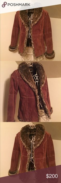 Beautiful, NWT Wilsons Leather faux fur coat Brand new, no damage, stains or smells. This jacket is absolutely beautiful but it's just too small for me. Please ask any questions you may have:) happy to answer Wilsons Leather Jackets & Coats Puffers