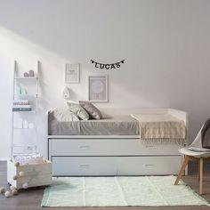 Cama con dos cajones para colchón de 190x90. Disponible en varios acabados, elige el color que más te guste.