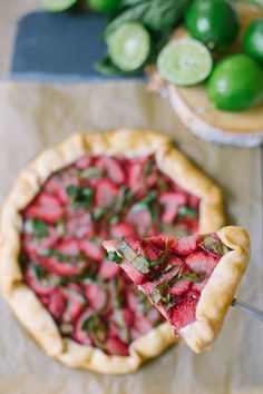 Strawberry Basil Galette | Sugar and Cloth