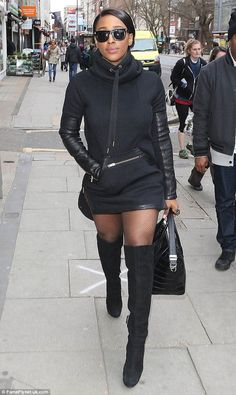 Renegade! Alexandra Burke put her curvaceous figure on display as she stepped out in London on Monday
