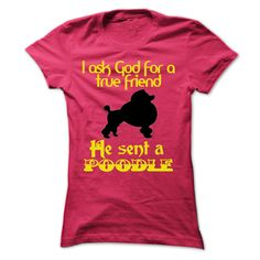 View images & photos of The God sent a poodle t-shirts & hoodies