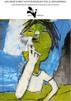 """""""Moi-je"""" Gitane Forever, oil on canvas 40 x 40"""