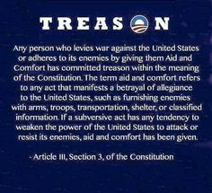 Obama has comitted treason countless times and yet we stay quiet but we treat trump as an enemy when hes for america. We need to wake up!