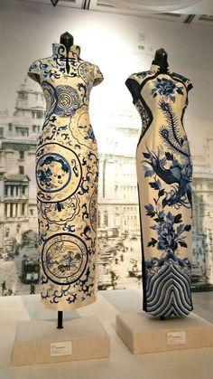 Cheongsam - Home decor Oriental Dress, Oriental Fashion, Asian Fashion, Asian Style, Chinese Style, 00s Mode, Cheongsam Modern, Diy Tattoo, Tattoo Style