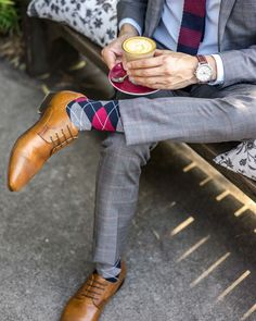 Colour matching your tie with @SoxHQ socks in some dapper @WindorSmithMen shoes. // Men's Fashion Style and Travel Blog - http://ift.tt/29K1GdU