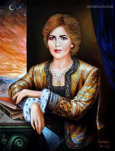 Her+Highness+Sheikha+Asma+Bint+Saqr+Bin+Sultan+Al+Qasimi Fashion Desinger, Golden Background, Web Gallery, Painting Gallery, Orthodox Icons, Baroque, Medieval, Mona Lisa, Portrait