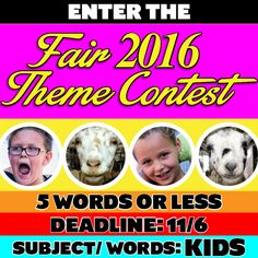 THIS FRIDAY , November 6th, is the LAST DAY to submit your 2016 AV Fair & Alfalfa Festival (8/19 to 8/28/2016) theme ideas! Go to avfair.com for entry details!