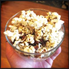 Foodie Friday: Popcorn with Pancetta and Parmesan - http://houstonlong.com/foodie-friday-popcorn-with-pancetta-and-parmesan/
