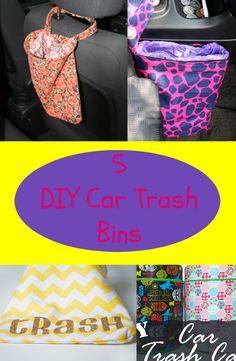 5 DIY trash bin ideas for your car Diy Car Trash Can, Sewing Crafts, Sewing Projects, Car Crafts, Diy Auto, Wooden Toy Cars, Car Upholstery, Car Hacks, Trash Bag
