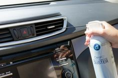 Blast the dust out of vents and carpeted corners with a can of compressed air.