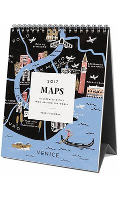 Rifle Paper Co 2017 Desk Calendar (Maps) Best Price