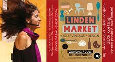 Kortingscoupon voor de LindenMarket: 20% korting op een Yabal product naar keuze! Kom 7 juli dus ook gezellig deze primeur in Nijmegen meemaken!