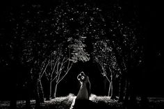 A photo under the moonlight is the perfect way to end your wedding day!