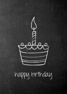 Happy Birthday! Schoolbord met verjaardagscake. Design: add81 Te vinden op: www.kaartje2go.nl #compartirvideos.es #felizcumpleaños