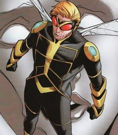 Wasp: (Henry Pym)  Multiple personalities, Ant-man, Wasp, Goliath causing severe mental stress and breakdown.