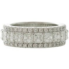 GRAFF London  Diamond Platinum Eternity Wedding Band Size 5.75 | From a unique collection of vintage band rings at http://www.1stdibs.com/jewelry/rings/band-rings/
