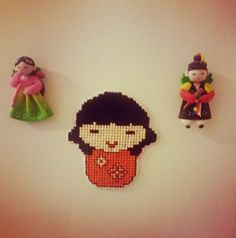 a sweet Japanese gal. #crossstitch
