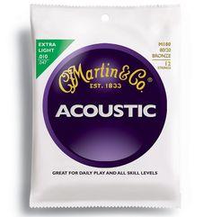 Martin M-180 12弦ギター用マーチン アコースティック弦[1セット]の最安値