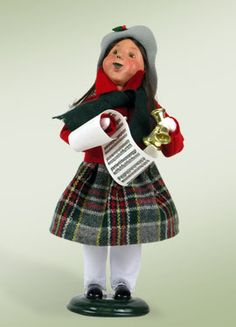 """""""Girl with Bells"""" a product from the Holiday Carolers."""