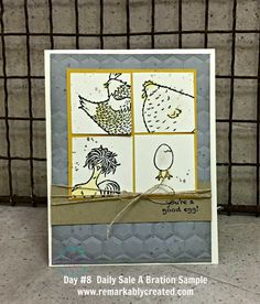 Welcome back to day #8 of my daily Sale A Bration postings. And speaking of being back, I'm back to playing with the chickens! Paired our crazy chicks with the dynamics hexagons folder and gorgeous grunge. Quick and easy. The squares are 1.5″ x 1.5″ and the crushed curry piece is 3.25″ x 3.25″ Keep …