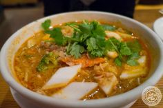 image of curry vegetable noodle soup at Republic in Union Square, NYC, New York
