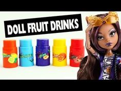 How to make doll Juice Bottles - YouTube