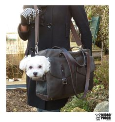 The 'Boxy Holdall' by MICRO POOCH. Designer / Luxury Pet Travel Bag / Dog Carrier / Dog Bag / Dog Purse / Puppy Carrier / Pup Purse / Pet Carrier.