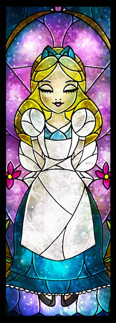 """""""Miss Kingsley"""" Alice Stained Glass Art"""