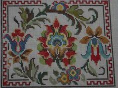 Cross Stitch Borders, Cross Stitch Rose, Stitch 2, Cross Stitch Flowers, Cross Stitch Designs, Cross Stitch Patterns, Crewel Embroidery, Flower Patterns, Needlework
