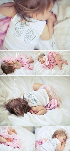 So cute, put wings on the back of a t-shirt of a baby or little one!