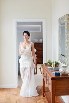 Zoe Beautiful Bride In Fara Couture Gown Cheer Silk Georgette And French Corded Lace