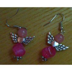 Ohrhänger ,Schutzengel, Perlenengel - Handarbeit - Unikat