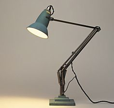 George Carwandine for Herbert Terry & Sons; Anglepoise desk lamp, nickel-plated and enameled metal, UK, 1933 (produced in license by BAG turgi (Switzerland); Vintage Industrial Lighting, Industrial Living, A Table, Table Lamp, Victorian Irons, Anglepoise Lamp, I Love Lamp, Reception Rooms, Home Office Design