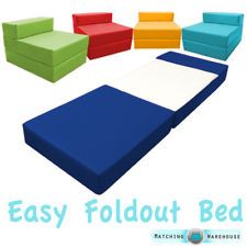 Fold Out Foam Guest Z Bed Chair Ideal For Kids Sleep Over Uk Made Futon Single