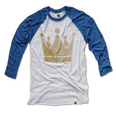 Kansas City Royals Vintage Crown Shirt - Raglan 3/4 Sleeve