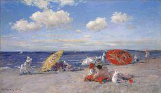 """At the Seaside"" 1892: William Merritt Chase The Metropolitan Museum of Art"