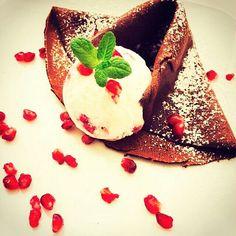 #crepes al #cacao #fiordilatte #melagrana