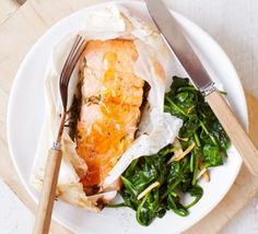 Honey & lemon trout with wilted spinach is part of Automatic Coupons Promo Codes And Deals Honey - This simple seafood supper is quick, easy and packed with goodforyou ingredients such as oily fish and spinach Bbc Good Food Recipes, Heart Healthy Recipes, Healthy Heart, Fish Recipes, Seafood Recipes, Honey Recipes, Recipies, Italian Stuffed Chicken, Clean Eating