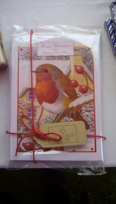Pack of 6 christmas cards from Hunkydory little books