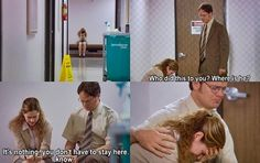 Can we all just take a minute to appreciate one of Dwight's few protective and empathetic moments....I mean the guy was getting choked up. Too sweet.