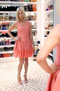 Take a peek inside celebs' fabulous closets and see how the fashionable half lives.