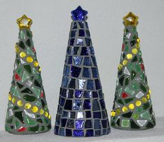 Mosaic Christmas trees