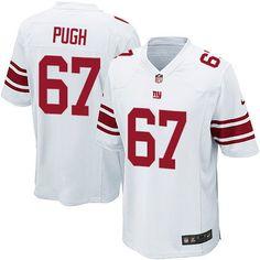 nike game justin pugh white mens jersey new york giants 67 nfl road