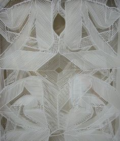 Amy Marcella's paper-cut installation at the Cosmopolitan hotel, NYE.