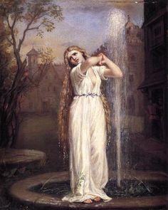 Undine, Oil On Canvas by John William Waterhouse (1849-1917, Italy)