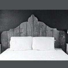 Achterwand bed van steigerhout - De rustieke plank in Nieuw Vennep