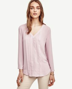Image of Pleated Cutout Top color Soft Lotus