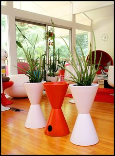 Architectural Pottery hourglass planters
