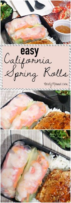This is a great recipe for California Spring Rolls. My mouth is watering.