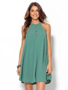 Correo - claraluz1504@hotmail.com Short Summer Dresses, Cute Summer Outfits, Winter Dresses, 20s Fashion, Look Fashion, Halter Outfit, Dress Skirt, Dress Up, Light Dress